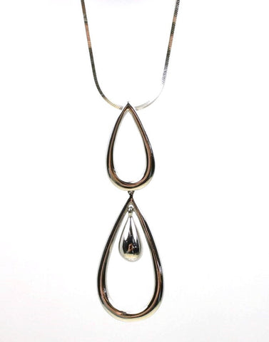 Hinged Double Teardrop Necklace