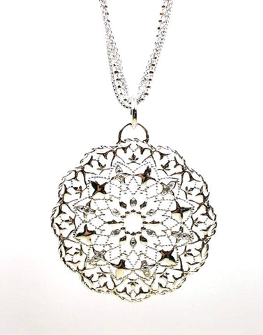 Large Medallion Diamond Necklace