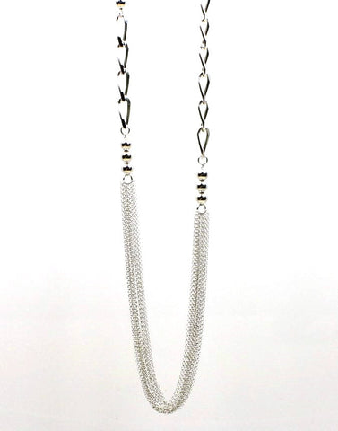 Multi-Strand Elongated Curb Necklace