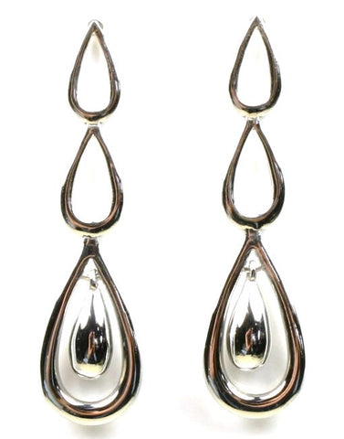 Hinged Triple Teardrop Earrings