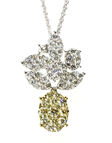 3.15ctw Diamond Pineapple Necklace by Allison Kaufman