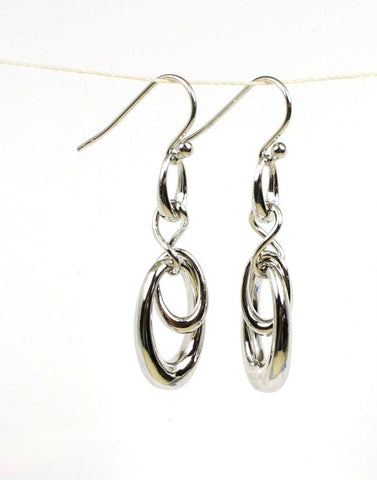 Multi Oval Drop Earrings