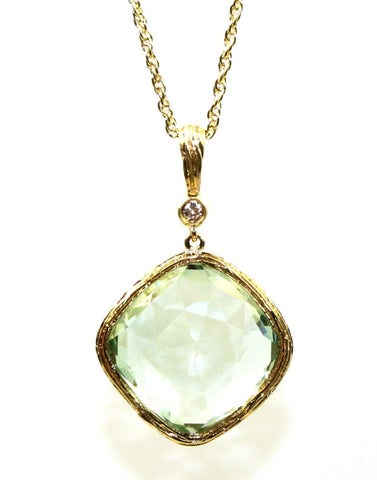 Green Amethyst Rock Candy Necklace by Allison Kaufman