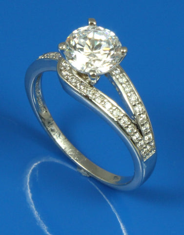 Diamond Knot Engagement Ring