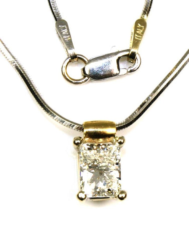 .96ct Radiant Cut Diamond Solitaire Pendant