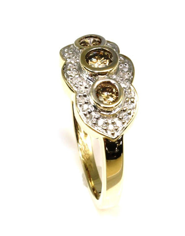 .50ctw Champagne and White Diamond Ring