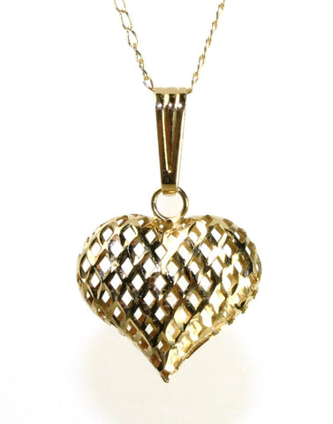 Small Puffy Heart Necklace