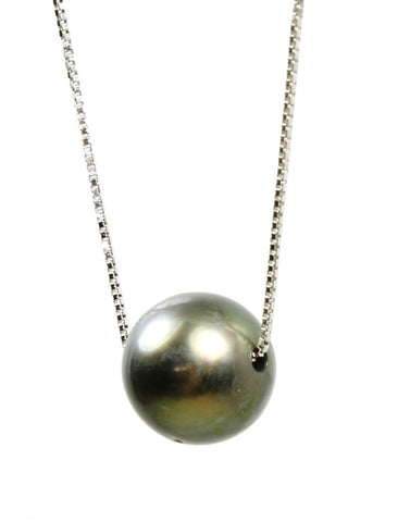 8.5mm Black Pearl Necklace