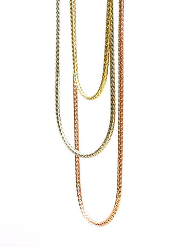 Three Strand Three Color Necklace