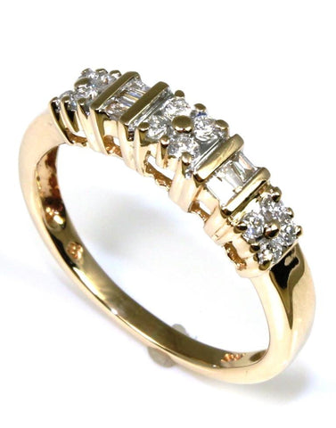 .27ctw Round and Baguette Diamond  Band