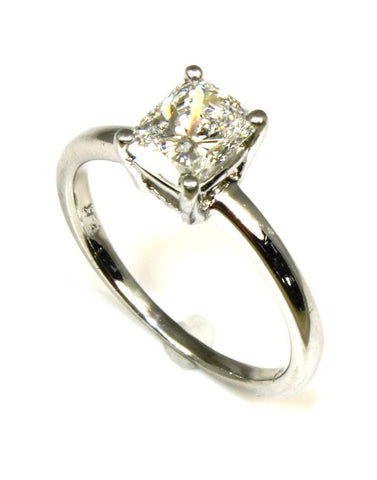 1.02ct Radiant Cut Diamond Solitaire Ring