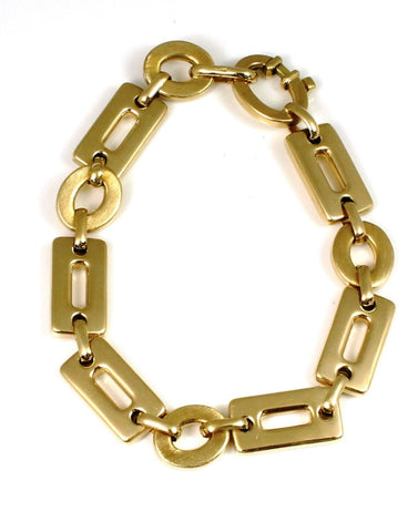 Rectangle and Circle Link Bracelet