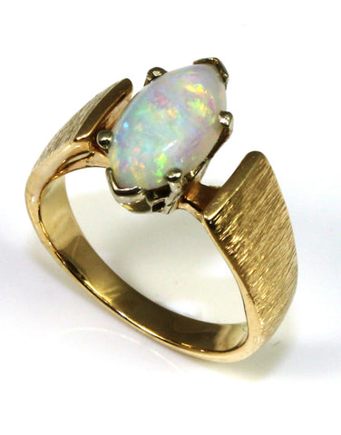 Opal Marquise Gem Ring