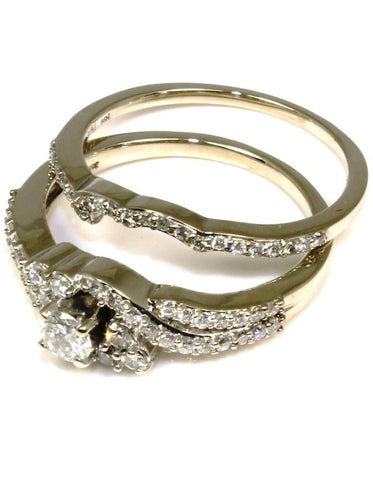 .98ctw Diamond Wedding Ring Set
