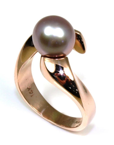 Pink Pearl set in Rose Gold Ring