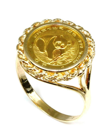 1988 Panda Gold Coin Ring