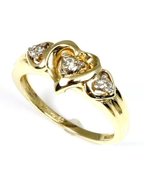 ".03ctw Hidden ""LOVE"" Heart Diamond Ring"