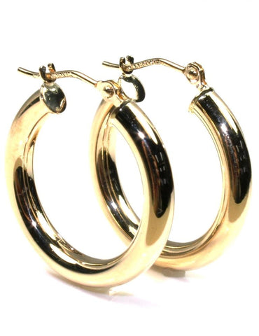 20mm Round Gold Hoop Earrings