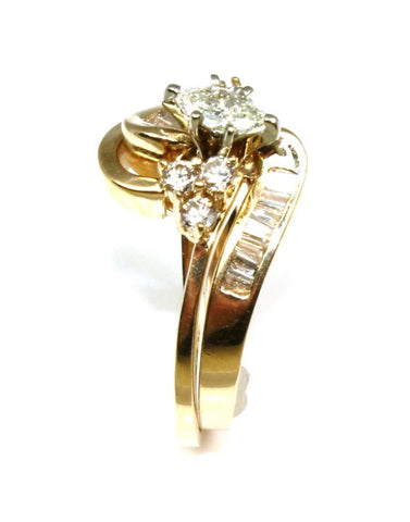 .75ctw Diamond Marquise Ring Set