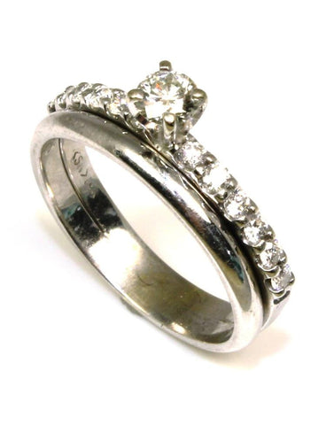 .61ctw Pave Diamond Ring Set