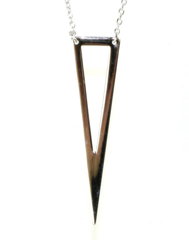 Elongated Triangle Necklace by Sterling Reputation