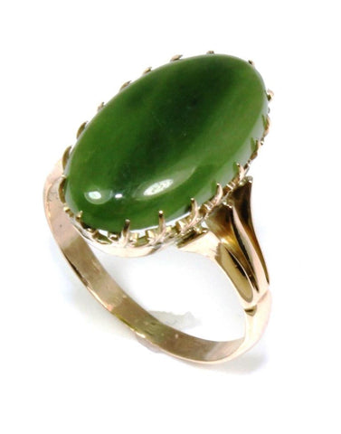 Oval Jade Ring