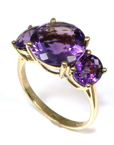 Three Amethyst Ring