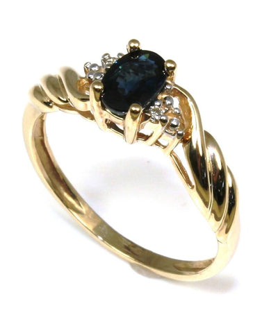 Petite Oval Blue Sapphire Ring