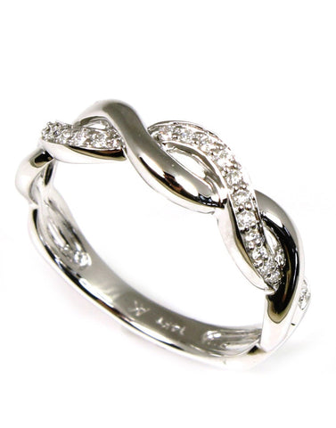 Diamond Braid Ring by Allison Kaufman