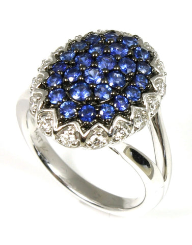 Blueberry Burst Sapphire and Diamond Ring by Allison-Kaufman