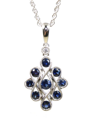 Sapphire Eternal Love Necklace by Allison Kaufman