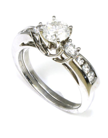 1.01ct Diamond Solitaire Ring with Diamond Wrap