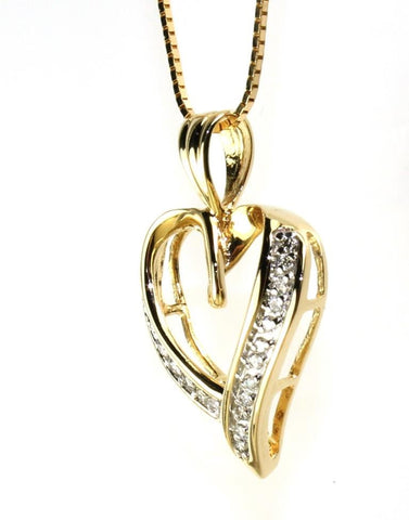 "Diamond .30ctw Classic Heart 18"" Necklace"