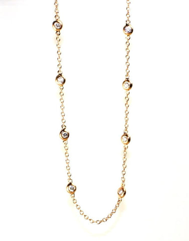 .50ctw Diamonds by the Yard Rose Gold Necklace