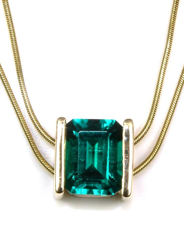 Created Emerald Necklace