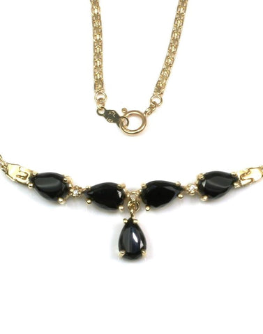 "Onyx Drop 18"" Necklace"