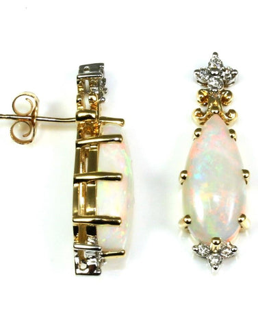 Pear Shape Opal Earrings