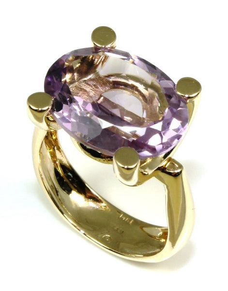 Light Purple Amethyst Bold Ring