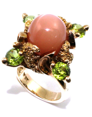 "Chalcedony and Peridot ""Virgilio"" Designer Ring"