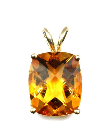 Cushion Cut Citrine Pendant