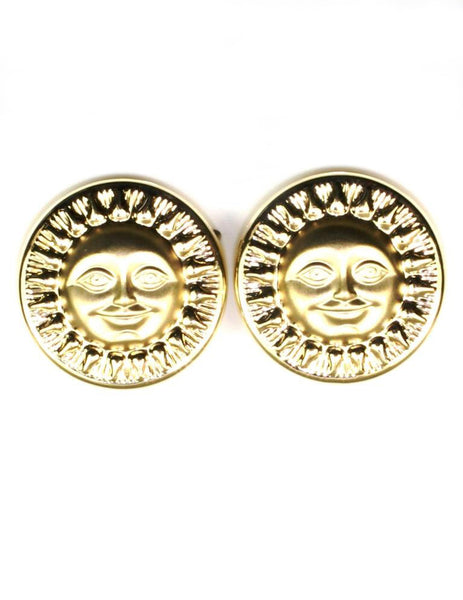 Sunshine Disc Earrings