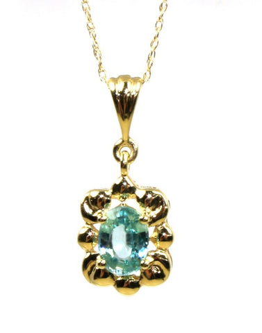 Blue Zircon Necklace