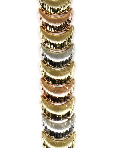 10mm Tri Tone Diamond Cut Bracelet