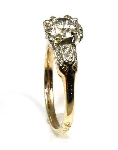 1.24ctw Old European Cut Diamond Ring