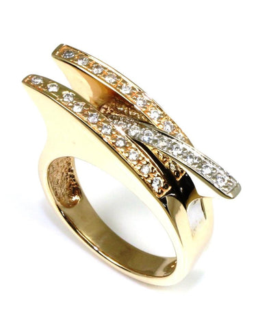 .30ctw Diamond Tri Tone Row Ring