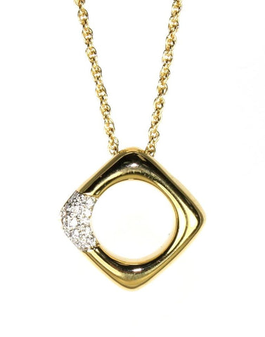 Diamond Square Necklace by Allison Kaufman