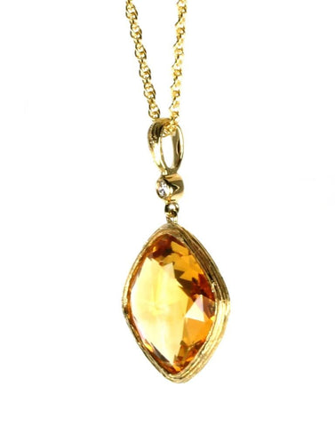 Citrine Rock Candy Necklace by Allison Kaufman