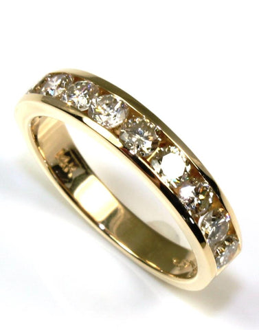 1ctw Round Diamond Channel Band
