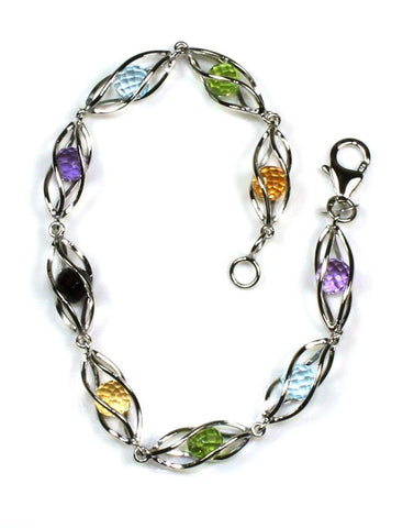 Caged Gemstone Bracelet by Carla & Nancy B
