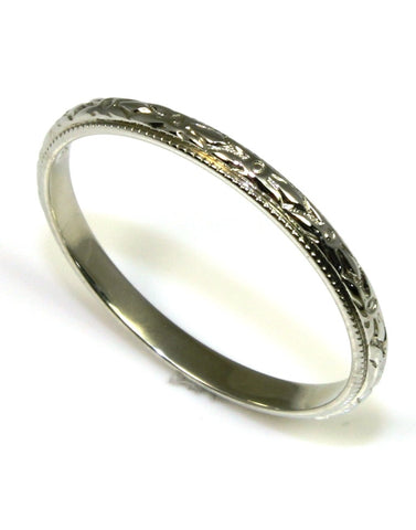 2mm Carved Eternity Vintage Band